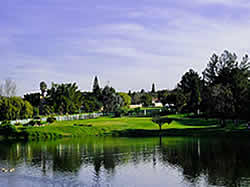 The golf course of Durbanville is a beautiful park landscape