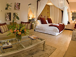 The luxurious four star Bakenhof Guesthouse is just 7 km from Paarl