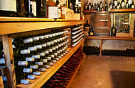 Full stocked wine cellar at Paarl Boutique Hotel in the Cape Winelands