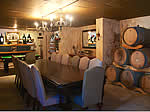 Wine Cellar: Flat Screen TV and Conference Table
