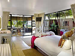 Sandals Guest House has ten large en-suite luxury bedrooms, all with baths, showers and extra length beds.